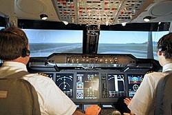 In de cockpit
