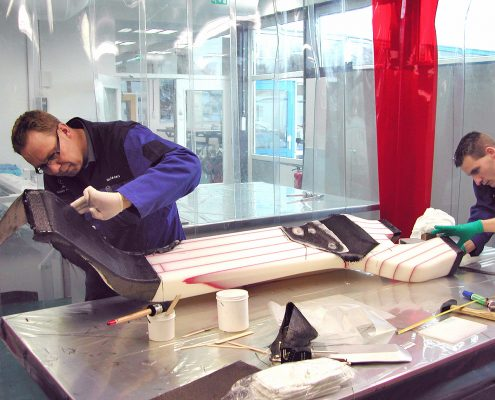 Development of prototype composite structural components.
