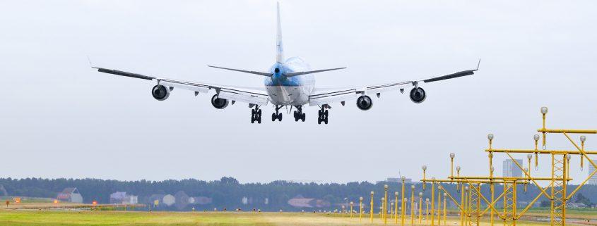 Landing at Amsterdam Schiphol Airport