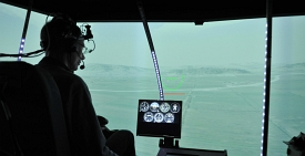 Peripheral horizon for small helicopters