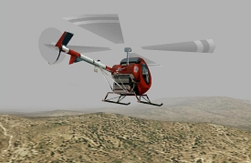 Simulated flight into the mist