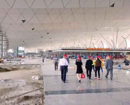 Airport Shenyang China under construction