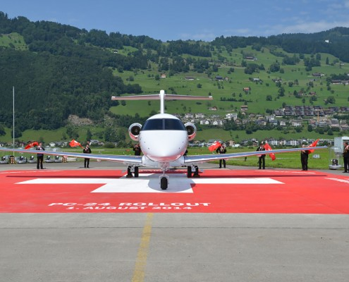 Pilatus PC-24 roll-out - photo Mirko Bleuer