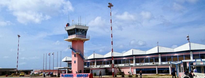 Flamingo Airport op Bonaire