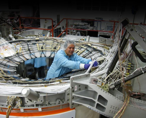 Satellite thermal control - AMS02