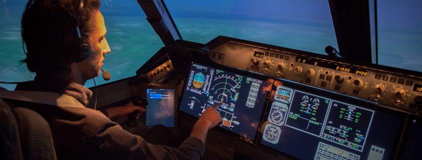 Touchscreen en slimme apps helpen de piloot van de toekomst