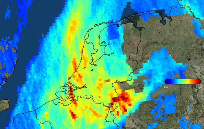 Stikstofdioxide Nederland 7 november 2017 - credits KNMI