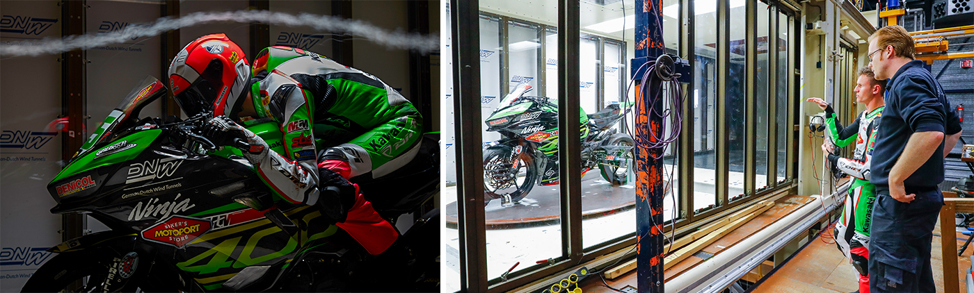 Kawasaki 400cc class in Low-Speed Tunnel (LST)