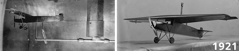 Fokker F.II windtunnelmodel