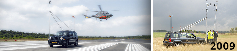 Hover Trials Lynx helikopter op vliegbasis Deelen