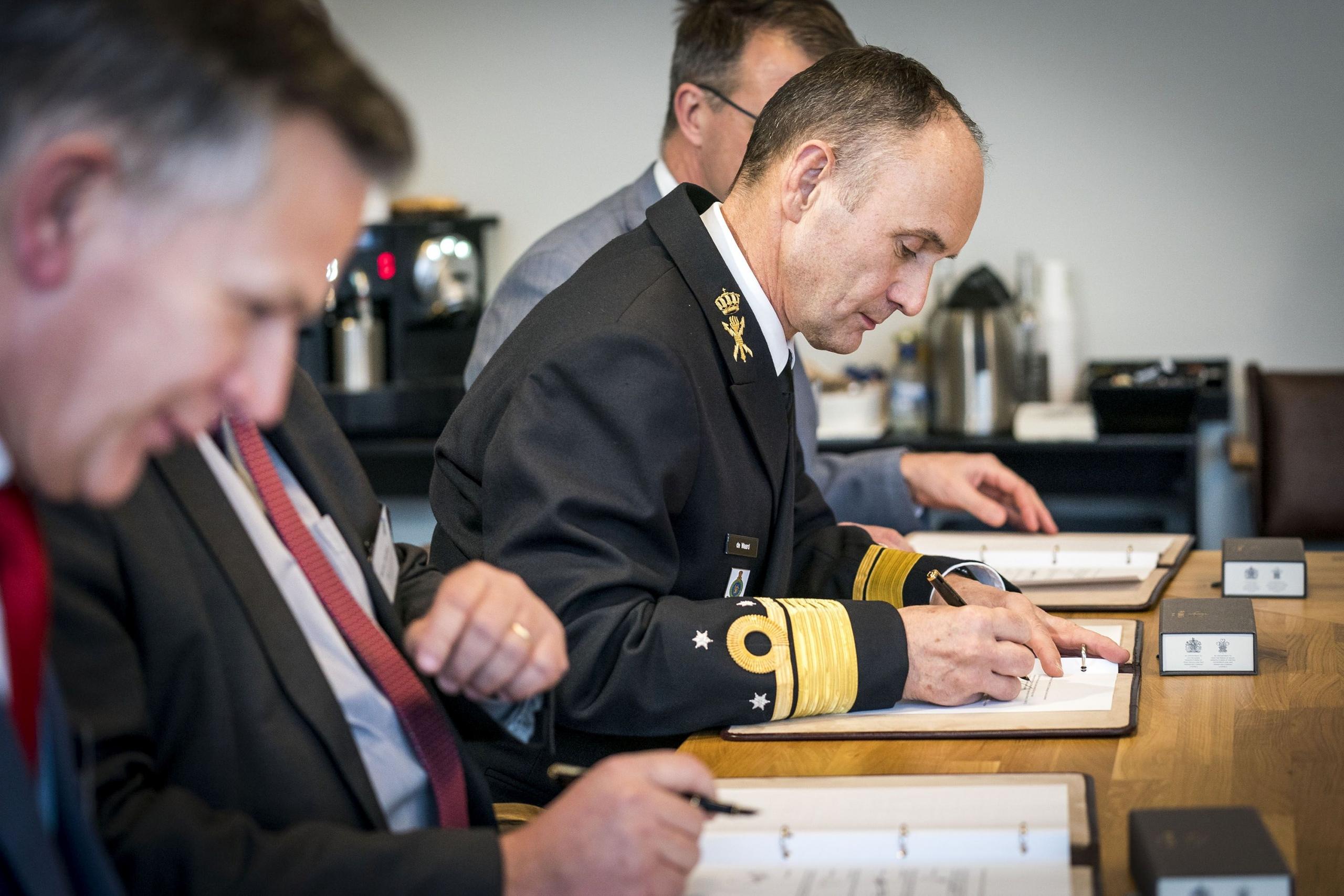 Ondertekening samenwerking DMO, NLR, TNO en MARIN